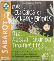 Duo céréales et champignons - Product - fr