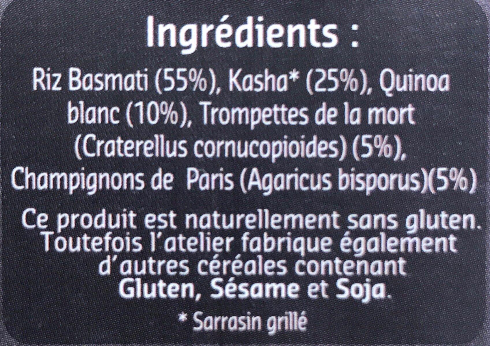 Duo céréales et champignons - Ingrediënten - fr