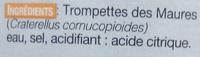 Trompettes - Ingrédients - fr