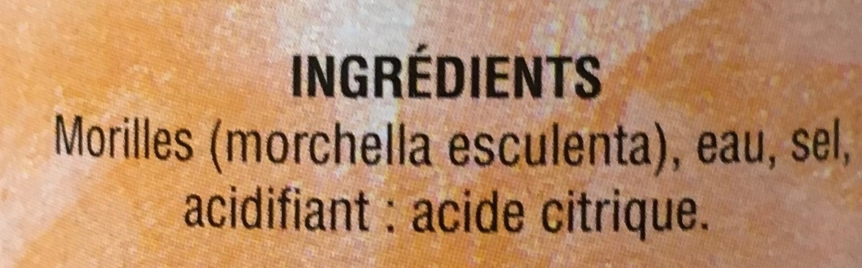 Morilles - Ingrédients