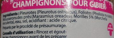 Champignon pour Gibier - Ingredients - fr