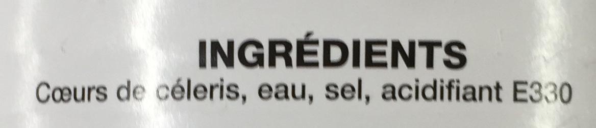 Cœurs de Céleris - Ingrediënten
