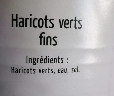 4 / 4 Haricots Verts Fins Maingourd* - Ingrédients - fr