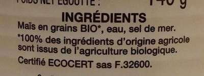 Maïs doux - Ingredienti - fr