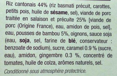 Porc au Caramel et son Riz Cantonais - Ingredients