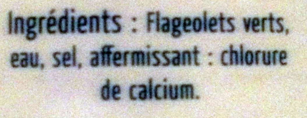 Flageolets Verts Extra-fins - Ingredients