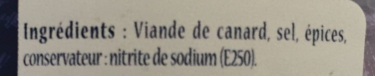 Rillettes de canard - Ingredients - fr