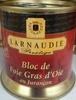 Bloc de foie gras d'oie au Jurançon - Produit