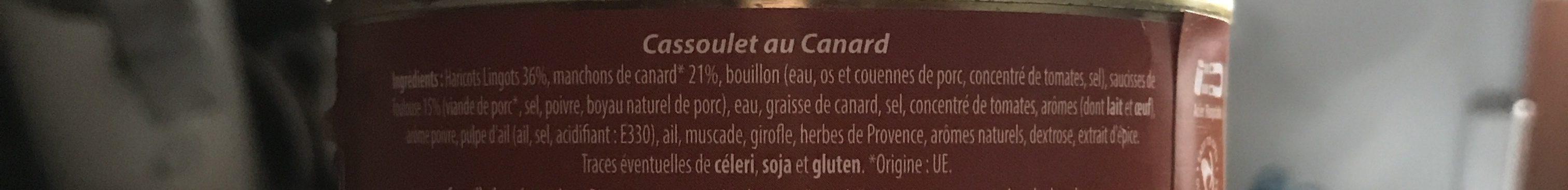 Cassoulet au Canard - Ingrediënten - fr