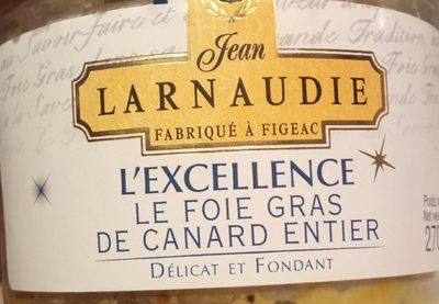 02eb2baca29f38 L excellence foie gras de canard entier Jean Larnaudie   calories et ...