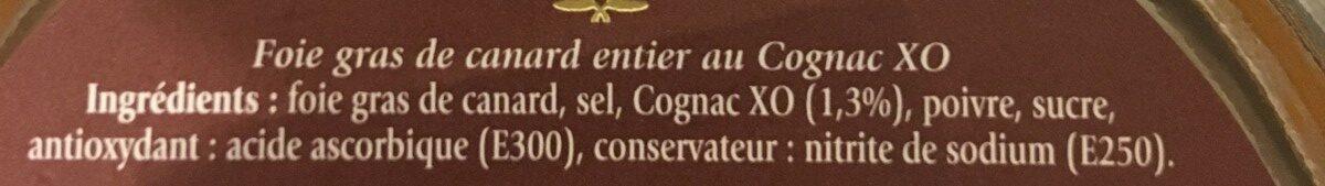 Foie Gras de Canard Entier au Cognac XO - Ingredients