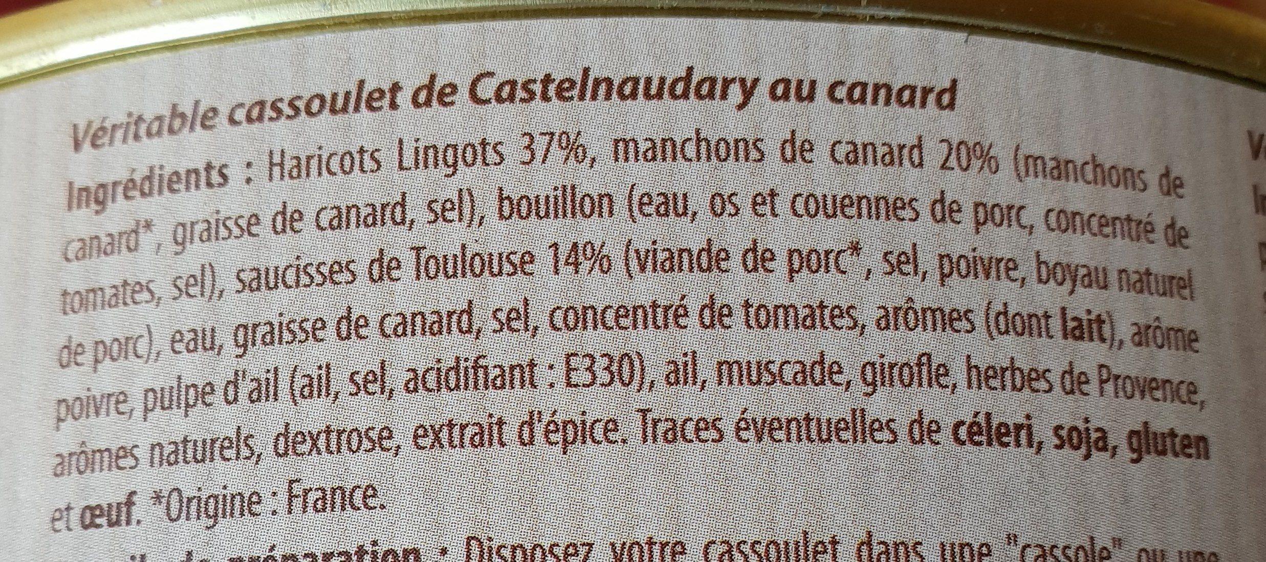 Véritable cassoulet de castelnaudary au canard - Ingrediënten