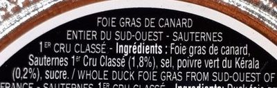Foie gras entier du sud-ouest - Ingredients - fr