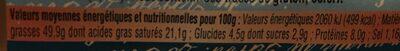 Foie gras de canard entier mi-cuit - Nutrition facts