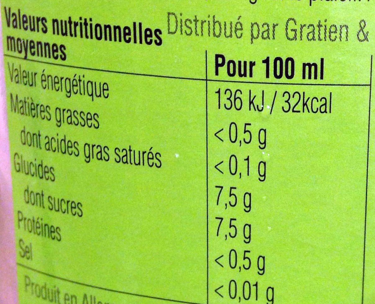 Festillant mojito à base de vin désalcoolisé - Voedingswaarden - fr