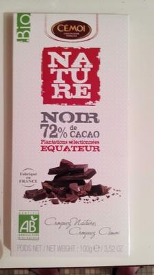 Nature Noir 72% Equateur - Produit