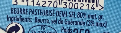 BEURRE DEMI SEL GRAIN MOULE - Ingredienti - fr