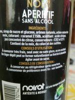 APÉRITIF sans alcool NOIX - Ingrédients - fr