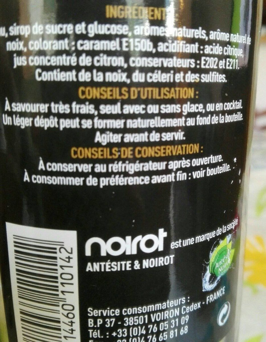APÉRITIF sans alcool NOIX - Informations nutritionnelles - fr