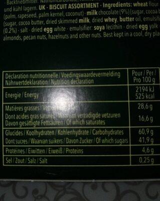 Delacre tentation chocolat assortiment biscuits - Informations nutritionnelles - fr