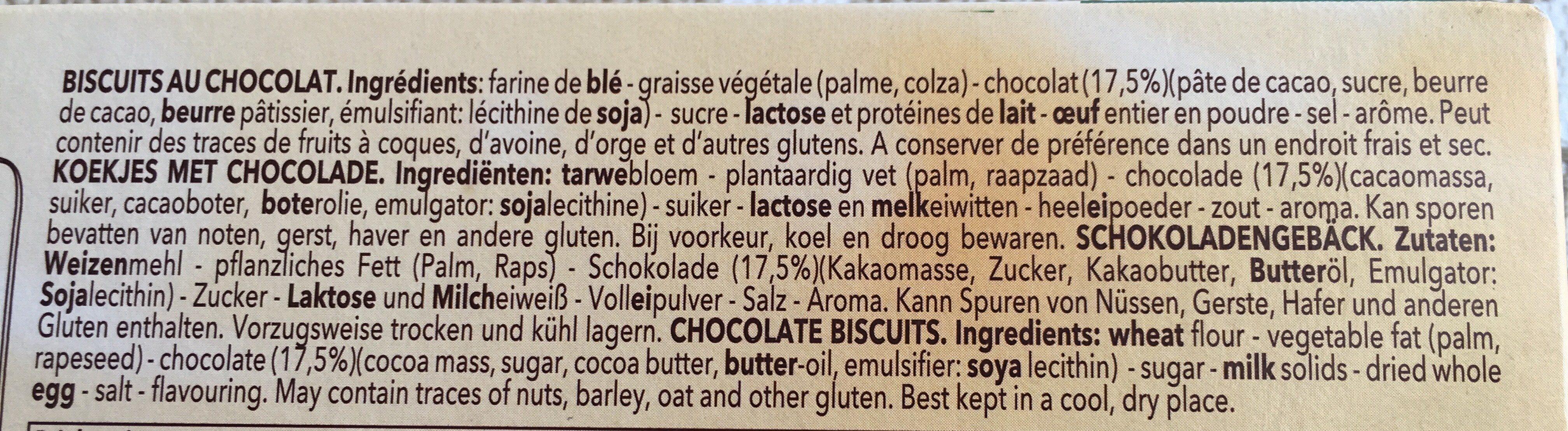 Delacre marquisettes biscuits chocolat - Ingrédients - fr