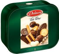 Delacre tea time assortiment biscuits boite metal 1000g ( - Produit - fr