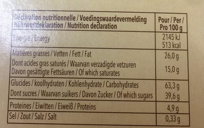 Delacre tea time assortiment biscuits - Valori nutrizionali - fr