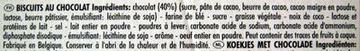 150G Delichoc Noir Delacre - Ingrédients - fr