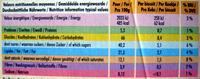 150G Delichoc Noir Delacre - Informations nutritionnelles - fr