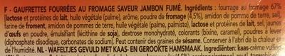 Delacre canasta biscuits aperitifs fourres fromage jambon fume - Ingrédients