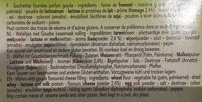 Delacre canasta biscuits aperitifs fourres gouda lot familial 2x150g ( - Ingrédients - fr