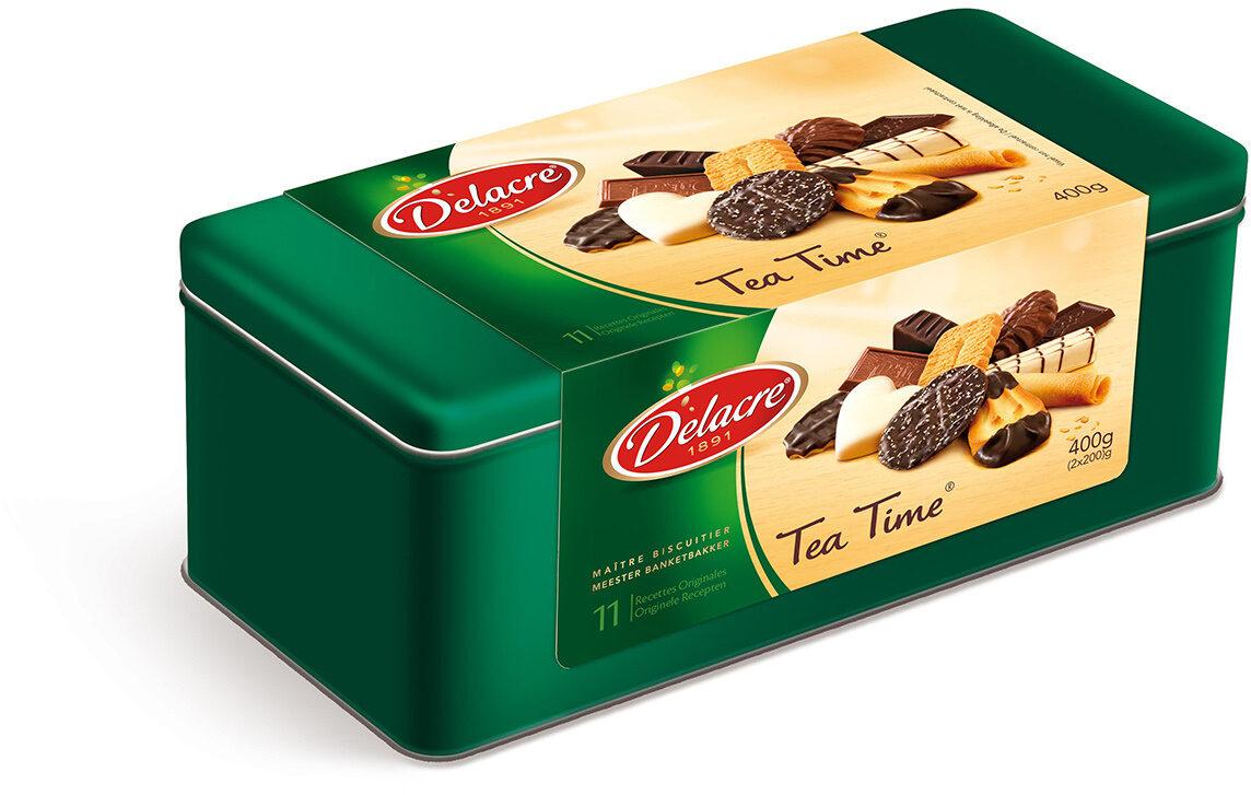 Delacre tea time assortiment biscuits boite metal - Produit - fr