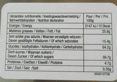 Delacre tea time assortiment biscuits boite metal - Informations nutritionnelles - fr