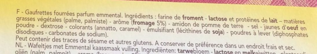 Delacre batons biscuits aperitifs fourres emmental - Ingrédients - fr