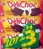 DéliChoc chocolat croustillant noir (lot de 3) - Product