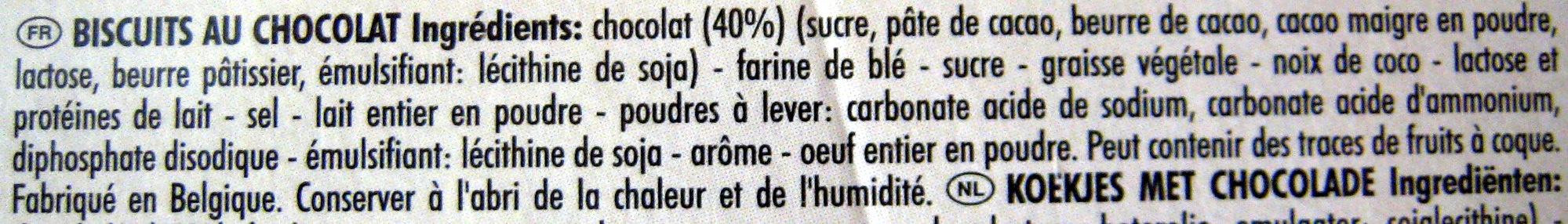 DéliChoc chocolat croustillant noir (lot de 3) - Ingrediënten