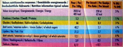 DéliChoc chocolat croustillant noir (lot de 3) - Voedingswaarden