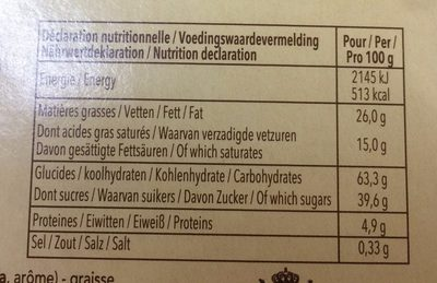 Tea Time - Informations nutritionnelles - fr