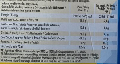 Delichoc tablette chocolat lait - Voedingswaarden - fr