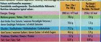 Delichoc Lait et cacao - Voedingswaarden