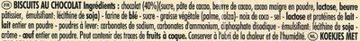 Délichoc - Ingrediënten - fr