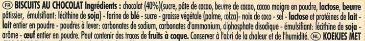 Delichoc tablette chocolat noir - 成分 - fr
