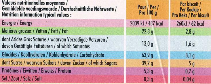 Délichoc - Voedingswaarden - fr
