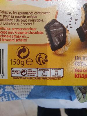 Delichoc tablette chocolat noir - Instruction de recyclage et/ou informations d'emballage - fr