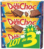 Delichoc tablette chocolat lait lot 3x150g ( - Prodotto