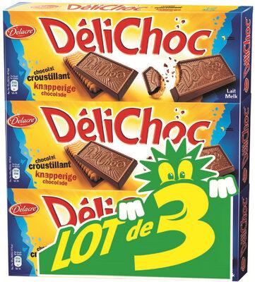 Delichoc tablette chocolat lait lot 3x150g ( - Prodotto - fr