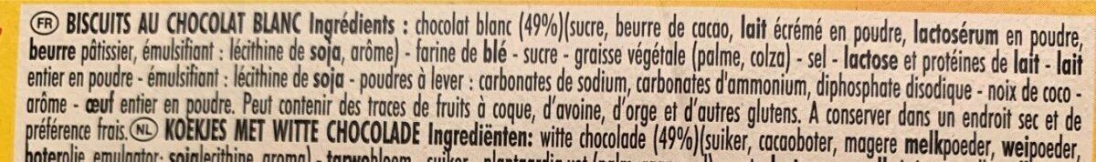 Delichoc tablette chocolat blanc - Ingrédients - fr