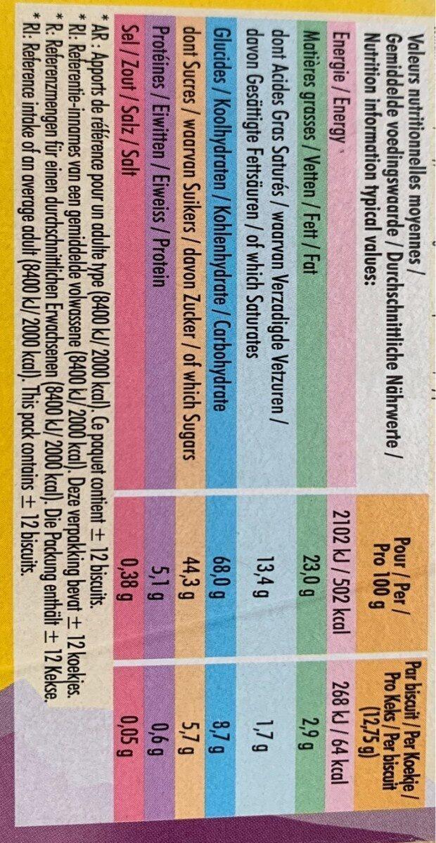 Delichoc tablette chocolat blanc - Informations nutritionnelles - fr