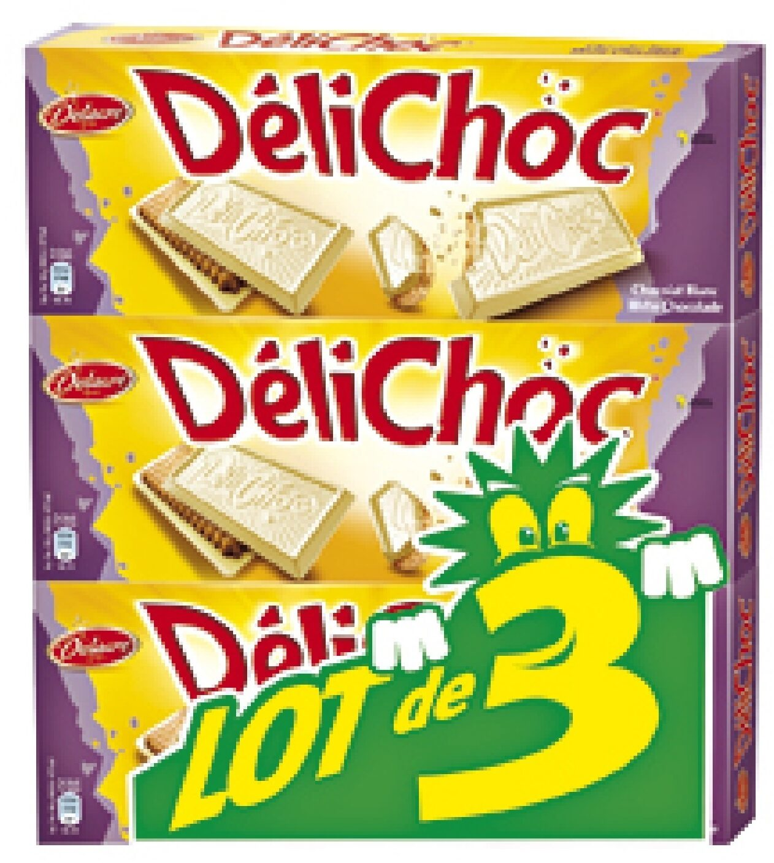 Delichoc tablette chocolat blanc lot 3x150g ( - Produit - fr