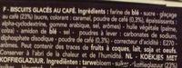 Café Noir - Ingrediënten
